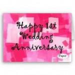 我本來今天結婚一周年