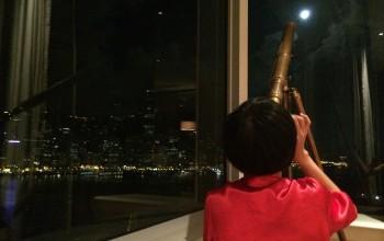 入住第一晚剛好遇上 18 年一次的  Super Moon 中秋節,雖然這張照片是在 9 號凌晨 3am 左右拍,但在房間還是可以好好賞月,lucky me!